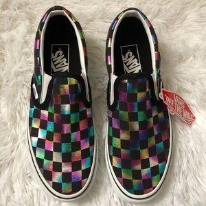 Vans Iridescent Check Slip On Shoe